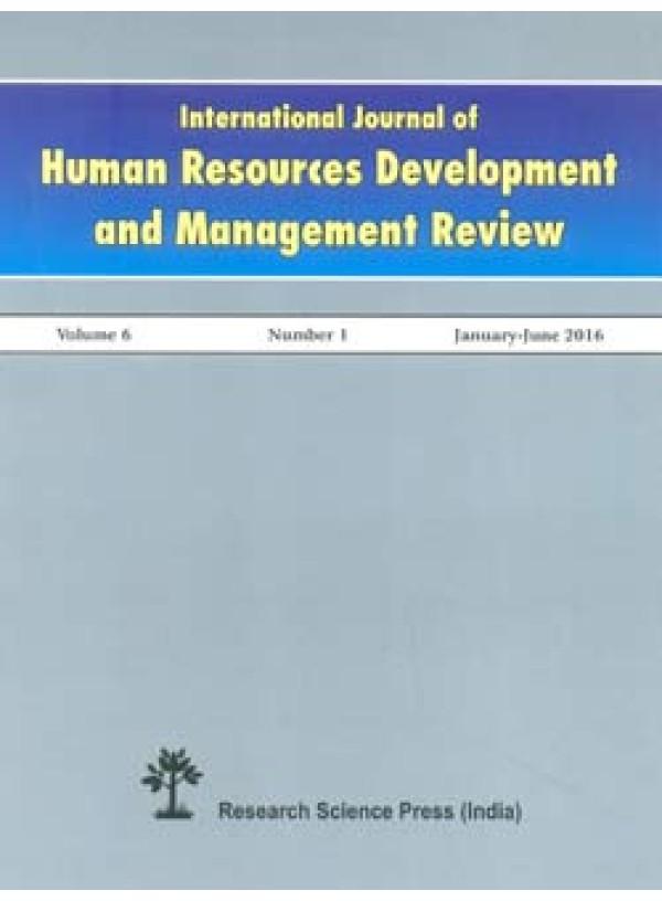 International Journal Of Human Resource Development And